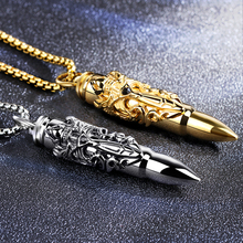 Bullet Men's Necklace Hanging Korean Chao Ren Titanium Steel Student Hanging Personality Decoration Chao Bullet Shell Hanging