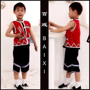 傣族彝族<span class=H>服饰</span>少数<span class=H>民族</span>服装幼儿园少<span class=H>儿童</span>学生舞蹈服演出服男表演服
