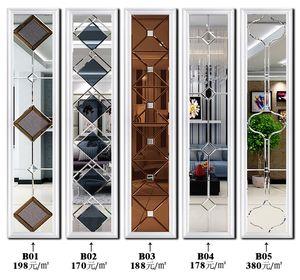 艺术玻璃<span class=H>电视</span><span class=H>背景墙</span>边框造型装饰框茶镜菱形拼镜客厅餐厅拼墙镜面