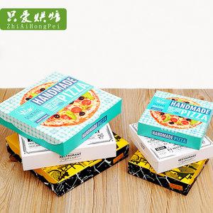 6寸8寸披萨盒pizza包装外卖包装盒松饼打包派盒 西点盒订制印刷