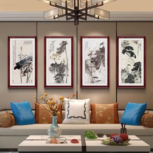 张大千现代中式玄关过道<span class=H>装饰画</span>沙发背景墙画客厅餐厅卧室挂画壁画