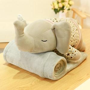 大象<span class=H>抱枕</span>被子两用靠枕<span class=H>靠垫</span>午休汽车办公室多功能折叠毯?#28216;?#30561;枕头