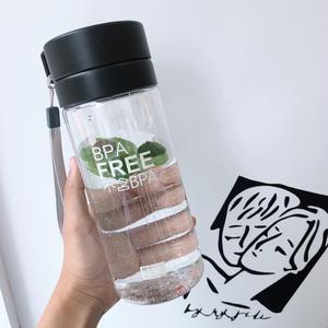 大容量过滤塑料水杯男女士户外运动健身<span class=H>水壶</span>太空杯简约韩版随手杯