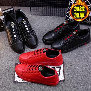 春季<span class=H>男鞋</span>帆布鞋男冬季韩版加绒休闲板鞋学生鞋子百搭社会小伙潮鞋