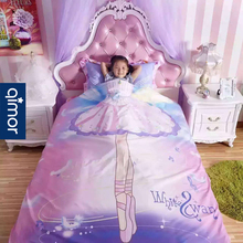 Girl bedding 4 sets Princess's room 1.2m bedding pure cotton girls 1.8 children's bed sheets 3 sets 1.5