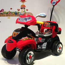 Child Wisdom Castle Electric Vehicle Remote Control Motorcycle Tricycle Child Four-wheeled Child Car Toy Car for Men and Women
