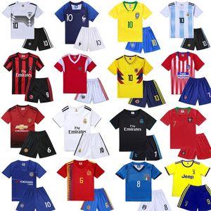 儿童<span class=H>球衣</span>订制足球服法国队夏季训练男童男孩印字女童童装德国队