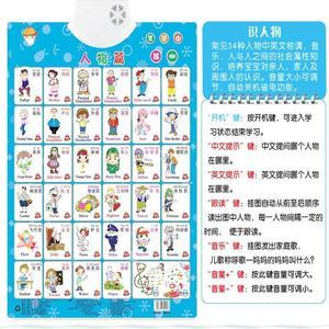 儿童学拼音有声<span class=H>挂图</span>少儿认字玩具看图发声发音学习<span class=H>认知卡</span>认物家用