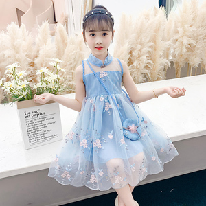 女童连衣裙儿童裙子夏装时髦公主裙2020夏天新款小女孩洋气裙子潮