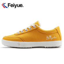 Feiyue/Feiyue Canvas Shoes Women Summer New Korean Fashion Leisure Shoes Yellow Trendy Slipper 8218