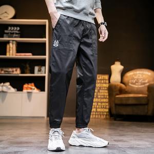 【网红同款】男韩版潮流春夏薄款束脚工装裤