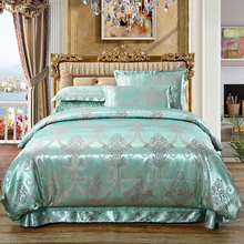 Quilt Set Single 1.5/1.8/2.0m Single and Double Bedding Student Dormitory European-style Satin Jacquard Quilt Cover