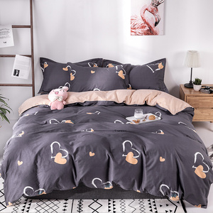 北欧ins风四件套全棉纯棉床上用品宿舍三件套被套床单公主少女心4