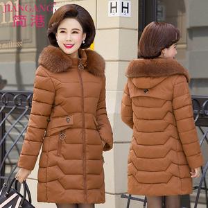 中老年<span class=H>女装</span>冬装棉衣40岁50妈妈羽绒棉服中长款外套中年人冬季棉袄