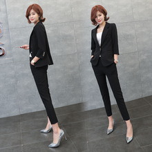 The Fashionable Temperament of Leisure Small Suit Suit Women Spring and Summer 2019 New Korean Professional Suit Suit Europa