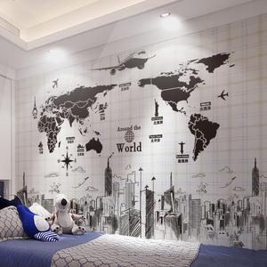 <span class=H>墙贴</span>纸贴画卧室房间宿舍大学生海报墙上墙壁纸装饰品自粘世界地图