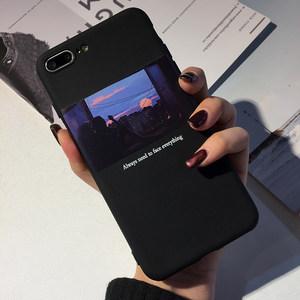 苹果6s手机壳插画6plus硅胶软壳7plus防摔保护套iphoneX男女彩绘情侣轻薄外壳个性创意潮流网红同款不会撞的