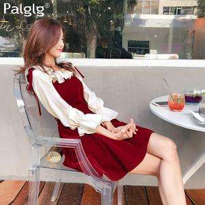 红色性感吊带裙背心裙秋冬新款女装2017韩版修身原宿丝绒连衣裙女