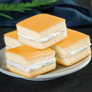 香蕉牛奶味蛋糕500g夹心小蛋糕西式<span class=H>糕点</span>营养早餐面包零食甜点整箱