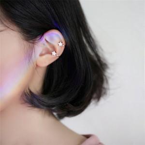耳骨夹无耳洞耳钉女韩国可爱五角星星<span class=H>耳夹</span>简约个性小巧精致耳饰品