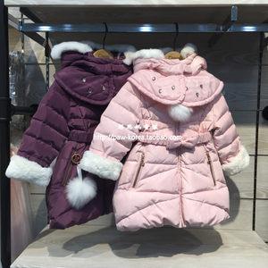 cheek韩国专柜正品童装2017冬装女童洋气领<span class=H>羽绒服</span>