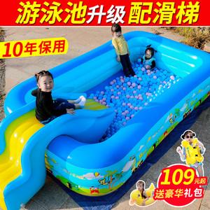 儿童充气<span class=H>游泳池</span>超大号家用婴儿宝宝游泳桶加厚大型家庭小孩洗澡池