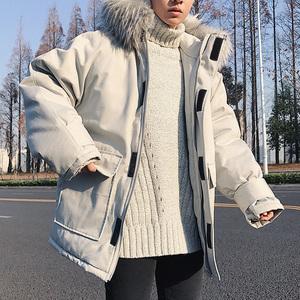 男士2018新款棉服冬季外套冬装棉衣情侣装网红同款棉袄加厚中长款