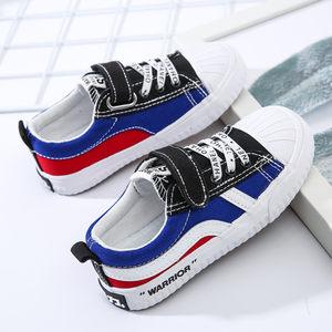 回力童鞋男童布鞋春秋女童鞋子儿童帆布鞋魔术贴休闲鞋学生鞋板鞋
