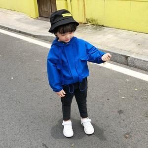 儿童男小童春秋装外套拉链衫风衣男宝宝冲锋衣潮韩小男孩洋气外套
