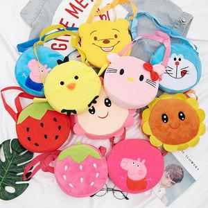 儿童迷你单肩<span class=H>斜挎包</span>韩版新款小女孩毛绒卡通挎包小男孩宝宝玩具包