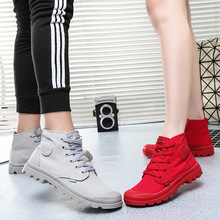 Spring and Autumn Couple High-top Canvas Shoes for Men and Women Outdoor Mountaineering Martin Boots Leisure Shoes Trend Palatine Women's Shoes