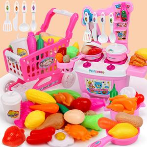 儿童仿真厨房做饭套装过家家玩具