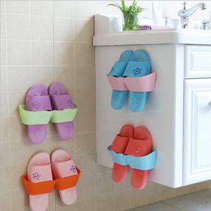 <span class=H>浴室</span>拖鞋架墙壁挂式卫生间免打孔厕所门后鞋架子省空间收纳小鞋架