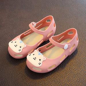 2-5岁儿童凉鞋女童果冻鞋时尚卡通凉鞋女宝宝公主鞋夏小孩<span class=H>沙滩鞋</span>