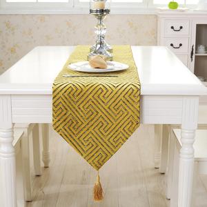 现代简约<span class=H>桌旗</span>床尾旗黄色北欧餐桌长条<span class=H>桌布</span>家用布艺客厅茶几旗盖布