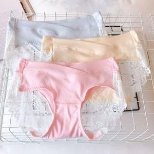 孕妇春夏季<span class=H>内裤</span>纯棉托腹低腰内衣短裤头怀孕期蕾丝短裤女大码透气