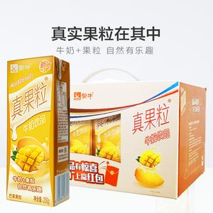 蒙牛真果粒芒果味早餐奶250g*12盒