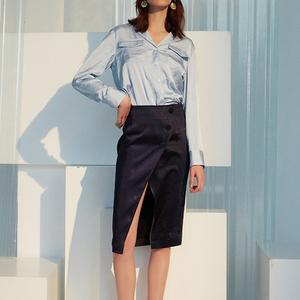 ITS VIIVII原创设计师品牌女装韩版简约气质性感开叉半身裙包臀裙