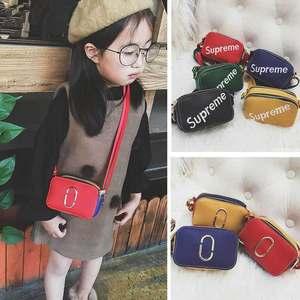 新款韩国版时尚撞色糖果色儿童小女孩包包单肩斜挎迷你小方包包女