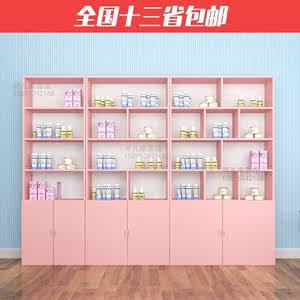 时尚好看<span class=H>的</span>化妆品展示柜院货架玻璃门带锁约烤漆产品展柜