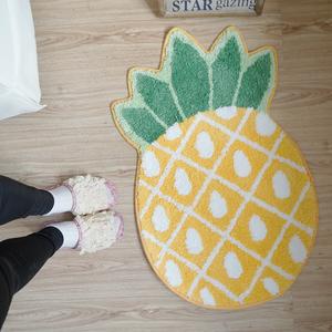 新品 森野家居家居布艺装饰水果菠萝厚大<span class=H>地垫</span> 地毯 卧室坐垫毯