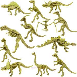 动物考古恐龙化石恐龙骨头恐龙骨架模型骨骼玩具翼霸王三角龙模型