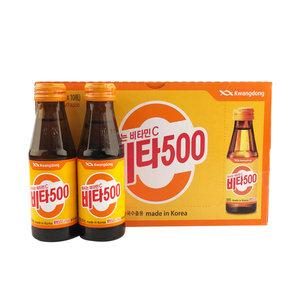 韩国进口维他500果味维C饮料10瓶装儿童果汁办公室饮品不含咖啡因