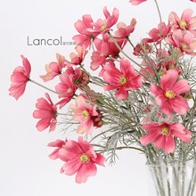 Lancol Blue can simulate the flower Xiaoqing Persian chrysanthemum dark pink living room decoration flower decoration false silk flowers
