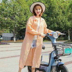 电动车<span class=H>披肩</span>夏季开纯棉披风<span class=H>摩托车</span>长袖衣防晒骑车遮阳防紫外线女
