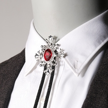 Japan and South Korea men's shirt shirt necktie European and American collar Poirot tie, male crystal bow tie, bow tie necklace, collar rope accessories.