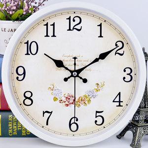 静音挂钟客厅卧室钟表现代时尚简约卡通石英钟时钟欧式创意<span class=H>挂表</span>