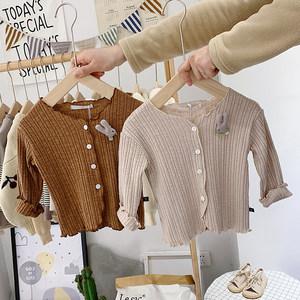 宝宝针织<span class=H>开衫</span>2019春季新款1岁女童可爱纯棉上衣婴儿衣服韩版毛衣