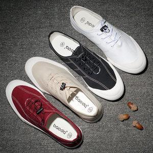 男式<span class=H>布鞋</span>春夏季<span class=H>系带</span><span class=H>低帮</span>休闲板鞋防臭透气白色韩版潮鞋帆<span class=H>布鞋</span>男鞋