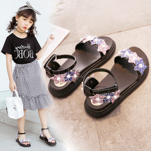 Girls'Sandals, Roman Shoes, Little Girl, Little Princess, New Summer Fashion Soft-soled Children's Middle and Big Children's Shoes, 2019